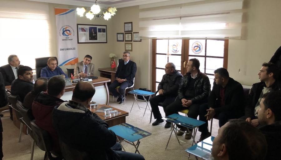 Sivas Ac.Md.lüğü Ofisinde Basın Toplantısı